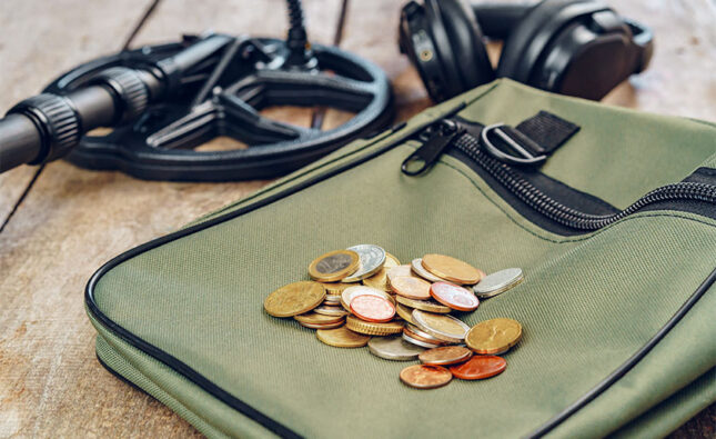 Will a metal detector find coins easily?